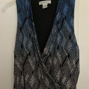 Liz Clairborne Blue & White dress
